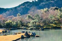 Tenryuji temple lake and garden in Kyoto, Japan. Tenryuji temple, lake and garden in Kyoto, Japan Stock Images