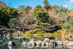 Tenryuji temple lake and garden in Kyoto, Japan. Tenryuji temple, lake and garden in Kyoto, Japan Royalty Free Stock Images