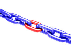 Tensão Chain isolada no branco Fotografia de Stock Royalty Free