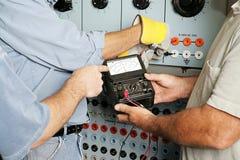 Tensão elétrica do teste da equipe Foto de Stock Royalty Free