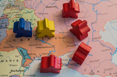 Tensão em Ucrânia Imagem de Stock Royalty Free