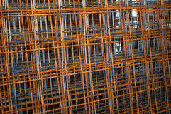 Tens of grid armatures. Novi Sad, Serbia Royalty Free Stock Photography
