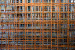 Tens of grid armatures Stock Photo