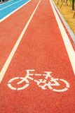 Runners and cyclists tracks Stock Photography