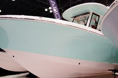 The 2019 New York Boat Show 103. Tens of thousands of boating and fishing enthusiasts start their season at the Progressive Insurance New York Boat Show. With royalty free stock image