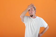 Tense Man Royalty Free Stock Images
