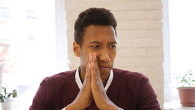 Tense Pensive Afro-American Man in Thought, Serious Designer in Studio. High quality stock photos
