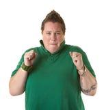 Tensed Woman Stock Photo
