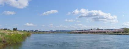 Tenshochi公园全景视图在岩手县,日本是fam 图库摄影