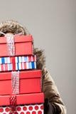 Tensión de las compras de la Navidad Imagen de archivo libre de regalías