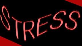 Tensión de palabra en negro y rojo Imagenes de archivo