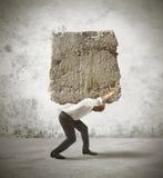 Tensión de un hombre de negocios Fotografía de archivo