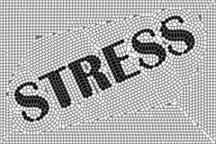 Tensión del mosaico stock de ilustración