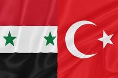Tensión entre Siria y Turquía Imagen de archivo libre de regalías