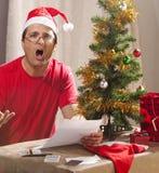 Tensión financiera de Navidad Imágenes de archivo libres de regalías