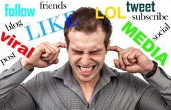 Tensión social de los medios fotos de archivo