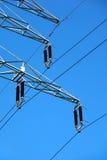 tension élevée électrique de pôle Images libres de droits