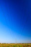 tension élevée de pylône de l'électricité Photos libres de droits