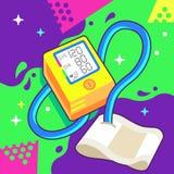 Tension artérielle Tonometer et coeur Rate Monitor Image libre de droits