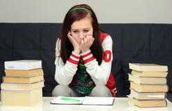 Tension avant examen d'école Photo stock