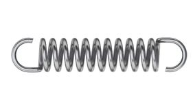 Tension and compression spring animation stock video footage