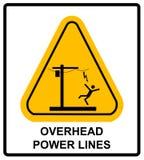 Tension dangereuse ci-dessus Bannière d'avertissement de vecteur Photos stock