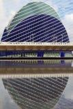 Tension guys of bridge and Agora complex. Valencia, Spain Royalty Free Stock Photos