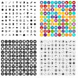 100 tension icons set vector variant. 100 tension icons set vector in 4 variant for any web design isolated on white Vector Illustration