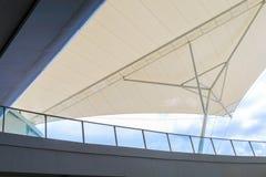 A tension membrane over Mezzanine on the building Stock Photo