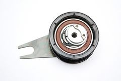 Tension pulley isolated on the Stock Image