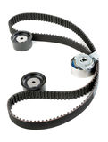 Tension pulley and timing belt Stock Image