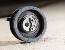 Tension roller motor vehicle Royalty Free Stock Images