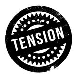 Tension rubber stamp. Grunge design with dust scratches. Effects can be easily removed for a clean, crisp look. Color is easily changed Royalty Free Stock Images