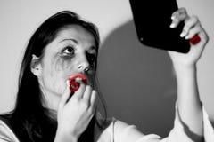 Tensionar-mirada adolescente Foto de archivo