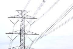 Tensione di Hight elettrica immagini stock