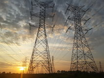 Tensione elettrica fotografia stock libera da diritti