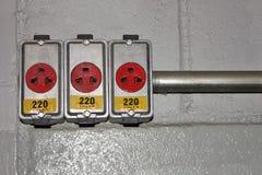 Tensione - 220V Fotografia Stock