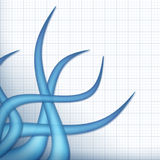 Tentáculos azules Fotos de archivo libres de regalías