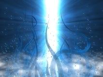 Tentáculos azules Stock de ilustración