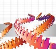 tentáculos de Techno do vetor 3D Imagem de Stock