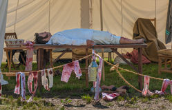 1812 Tent医生的战争  图库摄影