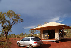 Tent. In Karijini National Park (Western Australia), modern camping Royalty Free Stock Images