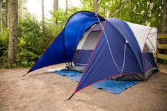 Tent. A tent set up in a campground in the Pacific Northwest Stock Images