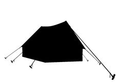 Tent. Contour of tent on a white background Stock Image