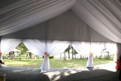Tent. Nice wedding tent for any couple royalty free stock photos