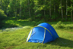 Tent. The Tent over grate forest and mountaine stock photography