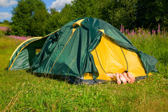 The tent Stock Photography