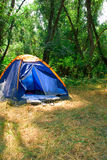 Tent. In the midle of nature Stock Photography