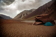 Tent in Aconcagua Stock Photos