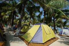 Tent at beach Royalty Free Stock Photos